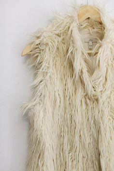 Faux Fur Cream Vest