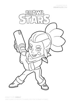 Shelly Brawl Stars Character coloring pages printable and coloring book to print for free. Find more coloring pages online for kids and adults of Shelly Brawl Stars Character coloring pages to print. Star Coloring Pages, Coloring Pages To Print, Printable Coloring Pages, Free Coloring, Coloring Books, Star Character, Drawing S, Easy Drawings, Sketches