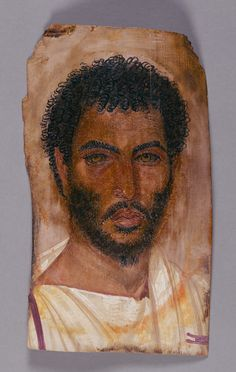 Mummy Portrait of a Bearded Man; Unknown; Egypt; about 150 - 170; Encaustic on wood; 37 × 21 cm (14 9/16 × 8 1/4 in.); 74.AP.11; J. Paul Getty Museum, Los Angeles, California