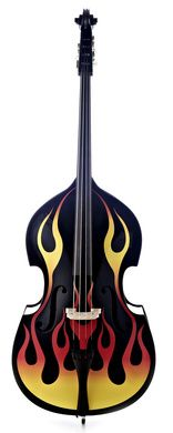 Flame Pattern Double Bass