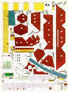 Vintage Prague castle paper model