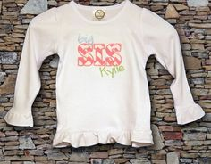 Big Sister long sleeve t-shirt or baby bodysuit by AmyRuthBoutique