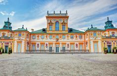 The royal Wilanow Palace in Warsaw, Poland. View from Upper Garden Copyright PHOTOCREO Michal Bednarek