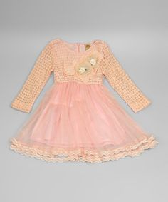 Mia Belle Baby Pink Lace & Tulle Dress - Toddler & Girls
