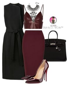 """Untitled #2760"" by stylebydnicole ❤ liked on Polyvore featuring The Row, Hermès, T By Alexander Wang, Rare London, Christian Louboutin and DYLANLEX"