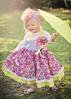 Princess Paisley Twirl Dress Lace Top, Shoes and Headband Available Too 12 Months to 12 Years - Girls Easter Dresses - Cassie's Closet