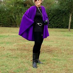 Vivid Purple Shawl, Poncho, Cape or Wrap in Anti Pill Fleece--One Size Fits Many by YoungbearDesigns on Etsy