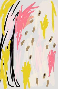 Abstracto arte grabado por Ashley G-caótico