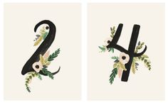 Our table numbers from Rifle Paper Co