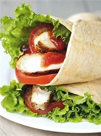 Weigh-Less Online - Crumbed Chicken Wraps Chicken Wraps, Poultry, Health, Ethnic Recipes, Food, Backyard Chickens, Health Care, Essen, Meals