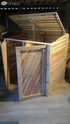 cache poubelle et placard de chambre notre maison ossature bois jardin pinterest. Black Bedroom Furniture Sets. Home Design Ideas