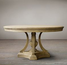 James Round Dining Table from Restoration Hardware Wood Furniture Legs, Furniture Styles, Dining Room Furniture, Dining Chairs, Dining Rooms, Oval Table, Round Dining Table, Round Tables, Restoration Hardware Dining Table