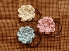 お花のヘアゴム☆の作り方 編み物 編み物・手芸・ソーイング ハンドメイドカテゴリ アトリエ