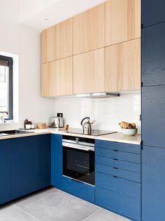 Inspirations : les projets de nos clients Kitchen Cabinet Colors, Kitchen Cabinetry, Kitchen Flooring, Ikea Kitchen, Kitchen Furniture, Kitchen Decor, New Kitchen Interior, Kitchen Colour Schemes, Cuisines Design