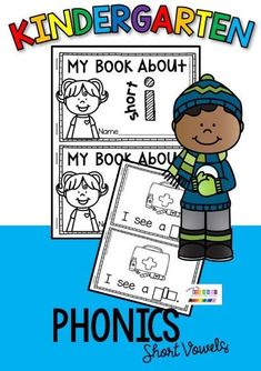 PHONICS WORKSHEETS kindergarten first grade - printable worksheets to practice short vowel sounds phonics printables word work centers literacy rotations centers posters My book about vowels a e i o u #kindergartenreading #kindergartenwriting Phonics Worksheets, Printable Worksheets, Printables, Narrative Writing, Fiction Writing, Early Literacy, Kindergarten Worksheets, Pre Reading Strategies, Writing Complete Sentences