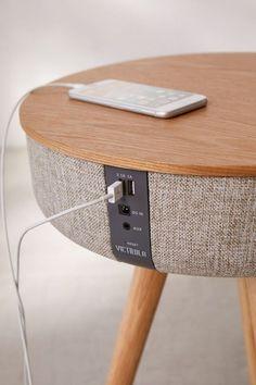 Slide View: Victrola Bluetooth Speaker Table SP Home Design Smart Furniture, Rustic Furniture, Furniture Decor, Antique Furniture, Outdoor Furniture, Furniture Outlet, Luxury Furniture, Furniture Layout, Furniture Stores