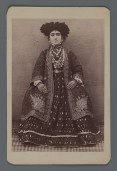 Female Member of a Tribal Khan's Family,  One of 274 Vintage Photographs, late 19th-early 20th century. Albumen silver photograph, photo. Brooklyn Museum, Purchase gift of Leona Soudavar in memory of Ahmad Soudavar, 1997.