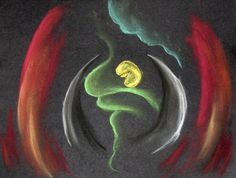 In the Womb -- an image I created at the end of my internship, and before graduating from Southwestern College. (by Laura L. Lansrud-Lopez)
