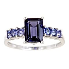 @Overstock.com - DYach 10k White Gold Iolite, Tanzanite and Diamond Ring - Iolite, tanzanite and diamond ring10-karat white gold jewelryClick here for ring sizing guide  http://www.overstock.com/Jewelry-Watches/DYach-10k-White-Gold-Iolite-Tanzanite-and-Diamond-Ring/6972118/product.html?CID=214117 $225.99