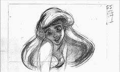 Glen Keane's utterly brilliant pencil test of Ariel. | 12 Mesmerizing Disney Pencil Gifs That Will Make You Miss 2D Animation