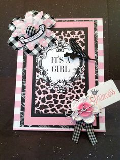 New Baby Girl Card Welcome Baby Card by MyPrettyPaperGifts on Etsy, $8.49