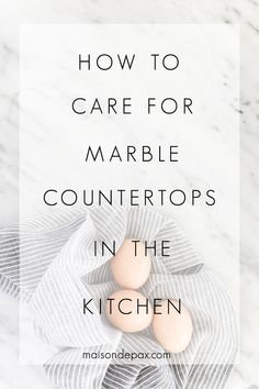 Kitchen Countertops Wondering how to care for marble counters? Don't miss these 5 tips on caring for marble countertops, including details on sealing marble counters, removing stains from marble, cleaning marble countertops, and avoiding scratches.
