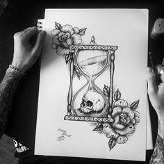 Drawn hourglass #cutedrawing #cute #drawing #flowers