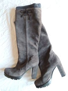 MISSONI TAUPE BROWN SUEDE TALL BOOTS  on www.FullCircleFashion.com