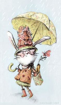 Even in bad weather she was fearless with her fashion choices... Jennifer A. Bell