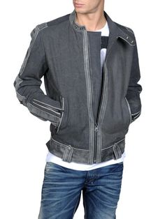 Look At These Men's Jackets. Uncover some terrific mens fashion. With so much style for men to pick from nowadays, it can be a daunting experience. Cotton Jackets For Mens, Gray Jacket, Diesel Jacket, Stylish Jackets, Casual Jackets, Men's Jackets, Men Closet, Men's Wardrobe, Moda Masculina