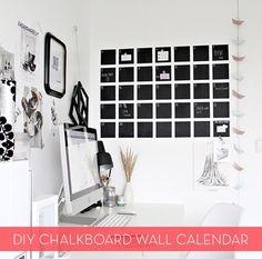 DIY modern chalkboard wall calendar