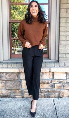 Mode 40 trendy work outfits for this fall # office outfits Simple Fall Outfits, Casual Work Outfits, Winter Outfits For Work, Mode Outfits, Office Outfits, Work Casual, Stylish Outfits, Fashion Outfits, Fashion Trends