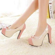 Pretty high heels bowknot sweet fashion ladies shoes