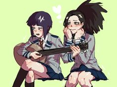 Characters: Kyouka Jirou, Momo Yaoyorozu