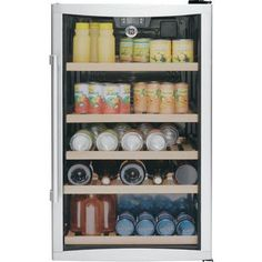 """GE GVS04BDWSS 19"""" Beverage Center with 31 Bottle Capacity"""