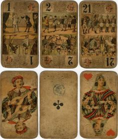 Early European playing cards.