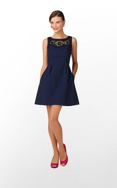 Emmy Dress in True Navy Soutache $268 (w/o 9/22/12) #lillypulitzer #fashion #style