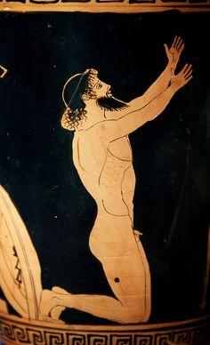 Ajax | Flickr - 30.11.2013: about to kill himself, vase from Lekythos, c460/50 BC. Antikenmuseum und Sammlung Ludwig, Basel.