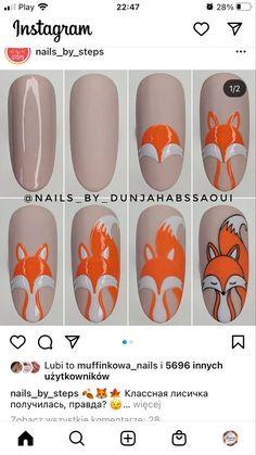 Nail Mania, Nail Art Hacks, Art Tips, Arts, Gel Nails, Autumn, Animal, Stickers, Toe Nail Art