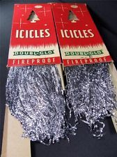 vtg Doubl-Glo LEAD TINSEL Icicles * Christmas Tree Ornaments / Decoration