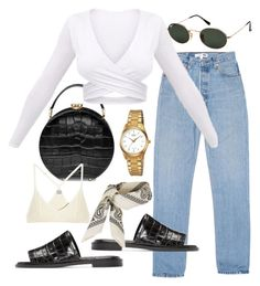 """Untitled #23471"" by florencia95 ❤ liked on Polyvore featuring Aspinal of London, Ray-Ban, E L L E R Y, Casio, Topshop and Base Range"