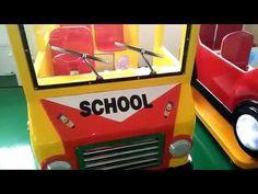 Kids Rides swing game machine –funny school bus