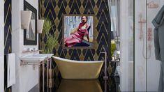 Roomstyler.com - Art Deco Art Deco Bathroom, Chair, Furniture, Design, Home Decor, Decoration Home, Room Decor, Home Furnishings