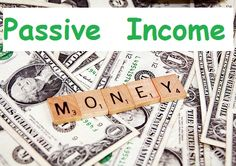 Passive income with money background