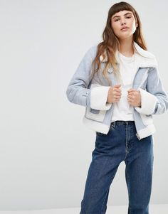 Buy it now. Urbancode Faux Shearling Aviator Jacket With Oversize Pockets - Blue. Jacket by Urbancode, Faux shearling fabric, Fully-lined, Contrast collar, Zip fastening, Regular fit - true to size, Dry clean, 100% Polyester, Our model wears a UK 8/EU 36/US 4 and is 170cm/ 5'7 tall. ABOUT URBANCODE British design company Urbancode, uses traditional techniques across a contemporary edit of leather handbags and jackets. Cropped, aviator and biker styles are updated, all with Urbancode's…