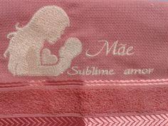 Toalha lavabo- Dia das Mães