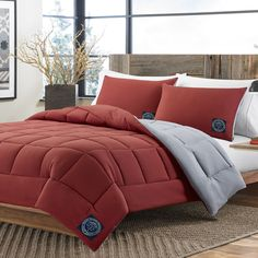 Eddie Bauer Flag Red Reversible 3-piece Comforter Set - Overstock™ Shopping - Great Deals on Eddie Bauer Comforter Sets