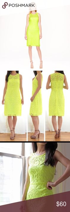 Gorgeous Lace J. Crew Dress in Yellow Citron (NWT) This is one of J. Crew's most popular dresses, featuring a bold & beautiful rich citron color with a feminine lace overlay. A sleek silhouette combine with delicate lace to create a design that looks fabulous on all body types! It is no surprise why this is one of the most timeless, classic dresses from J. Crew--one that will have you reaching for again & again for years to come! Also BRAND NEW, with tags! J. Crew Dresses