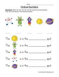 Ordinal Numbers Worksheet 5 | Pinterest | Number worksheets ...
