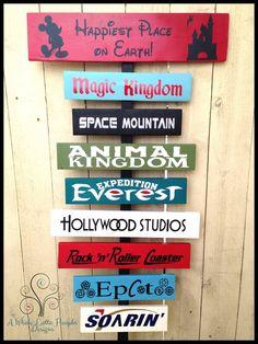 Disney Favorites Custom Wooden Signs by A Whole Lotta Hoopla